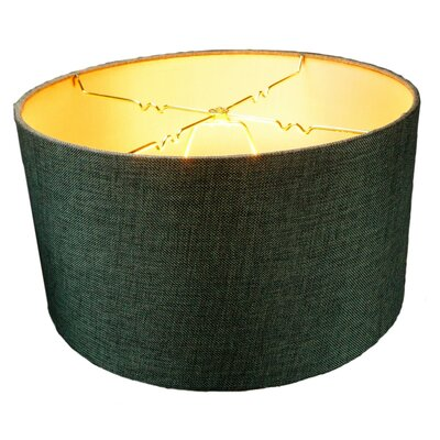 16 Linen Drum Lamp Shade Shade Color: Granite Gray, Size: 8 H x 16 W x16 D