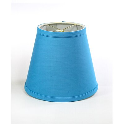 7 Clip on Linen Empire Lamp Shade Finish: Niagra Blue