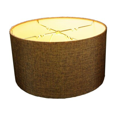 16 Linen Drum Lamp Shade Shade Color: Chocolate, Size: 8 H x 16 W x16 D