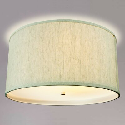 Ransdell Drum Flush Mount Shade Color: Oatmeal