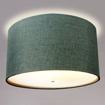 Kimmons Drum Flush Mount Shade Color: Granite Gray