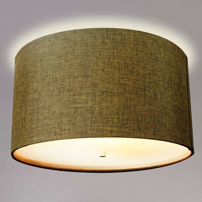 Kimes Drum Flush Mount Shade Color: Chocolate