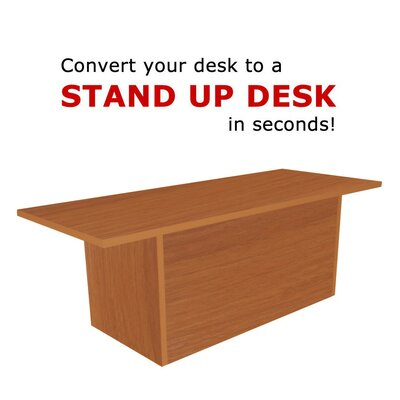 12 H x 36 W Standing Desk Conversion Unit Finish: Light Cherry