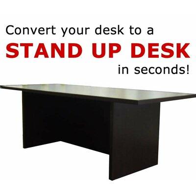 12 H x 36 W Standing Desk Conversion Unit Finish: Dark Red Cocoa