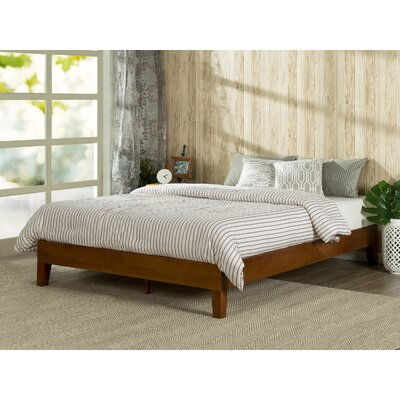 Deluxe Wood Platform Bed Size: Twin
