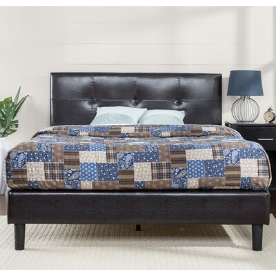 Stitched Upholstered Platform Bed Size: King