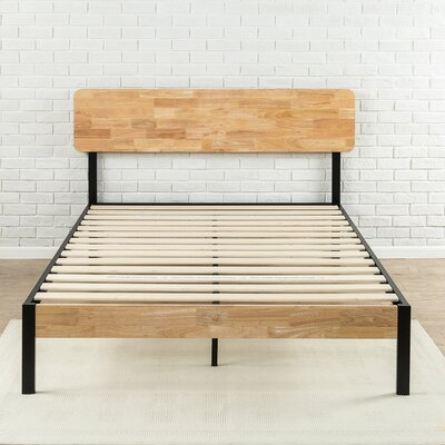 Ursula Metal/Wood Platform Bed Size: Twin