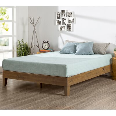 Wood Platform Bed Size: Twin