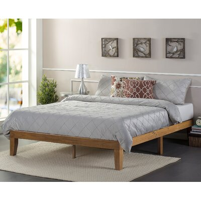 Wood Platform Bed Size: King