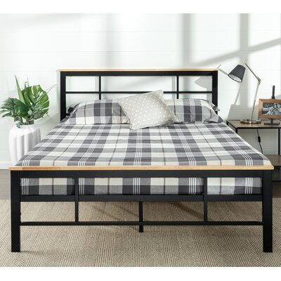 Urban Metal/Wood Platform Bed Size: King