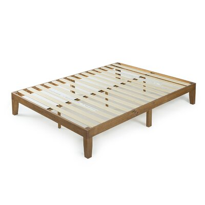Wood Platform Bed Size: Twin, Color: Dark Brown