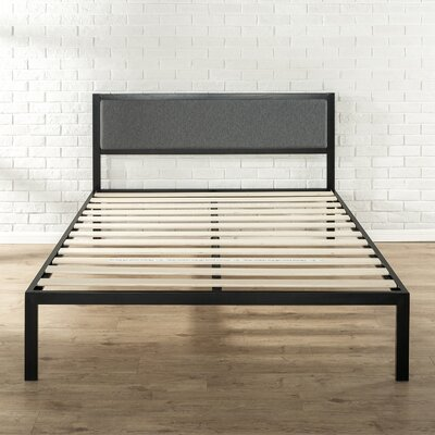 Del Wood Slat Support Platform Bed Frame Size: Queen