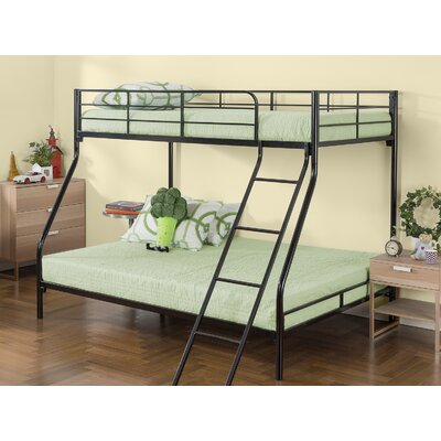 Marisol Quick Lock Metal Twin over Twin Bunk Bed with Dual Ladders