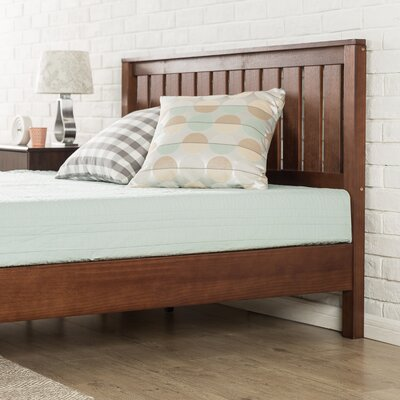Morgan Hill Wood Platform Bed Size: King