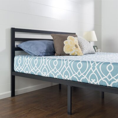 Quick Lock Metal Platform Bed Frame with Headboard Size: Twin