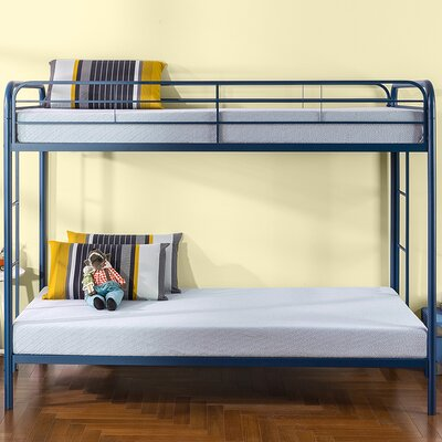 Claraville Quick Lock Metal Bunk Twin Bed with Dual Ladders