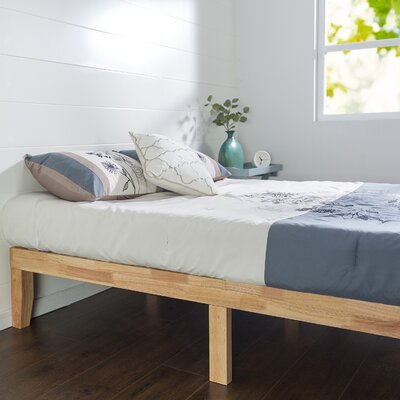 Solid Wood Platform Bed Size: King