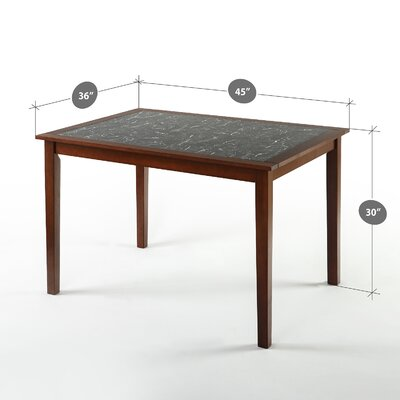 Dolores Faux Marble and Wood Dining Table