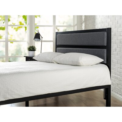 Walser Metal Upholstered Panel Headboard Size: Twin