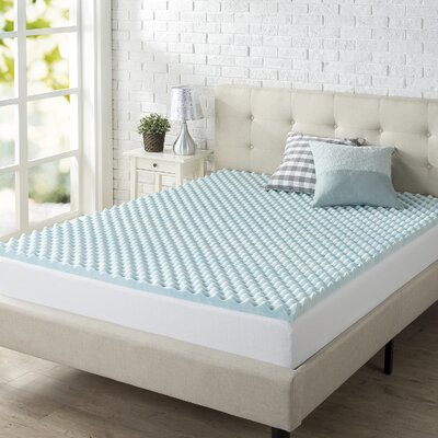 Convoluted Swirl 2 Memory Foam Mattress Topper Size: King
