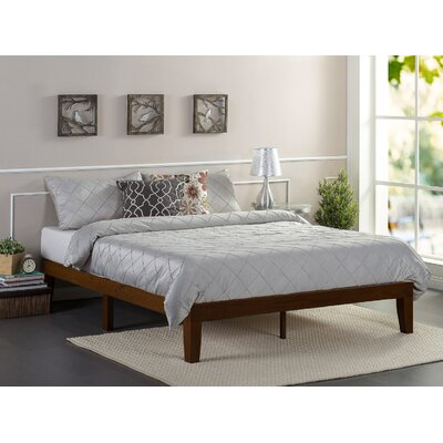 Hullinger Solid Wood Platform Bed Size: King