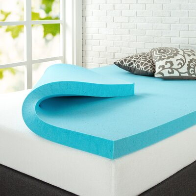 3 Gel Memory Foam Mattress Topper Size: Queen