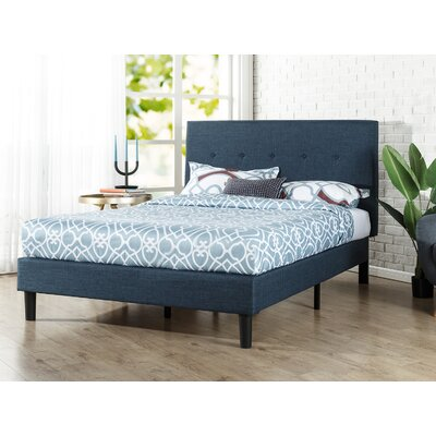 Roye Button Detailed Upholstered Platform Bed Size: Queen
