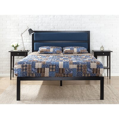 Royse Metal Upholstered Platform Bed Size: King
