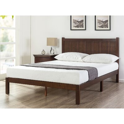 Talia Rustic Style Platform Bed Size: Queen