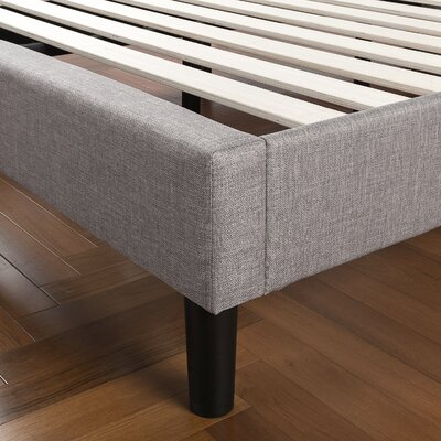 Royster Vertical Detailed Upholstered Platform Bed Size: King