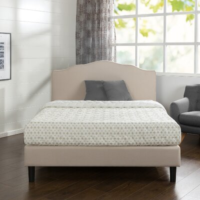 Hoopeston Scalloped Upholstered Platform Bed Size: Queen