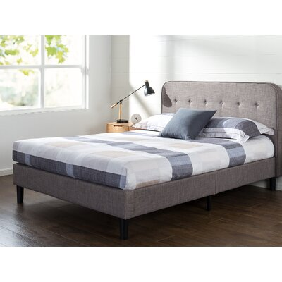 Bierman Curved Upholstered Platform Bed Size: Queen