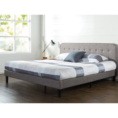 Bierman Curved Upholstered Platform Bed Size: King