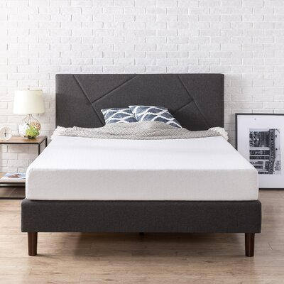 Swarthout Geometric Paneled Upholstered Platform Bed Size: King