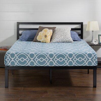 Quick Lock Metal Platform Bed Frame with Headboard Size: Queen