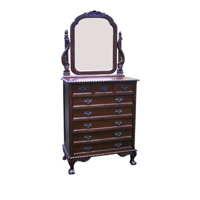 England 8 Drawer Dresser with Mirror