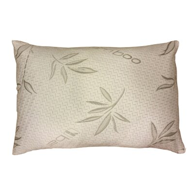 Bamboo Rayon Hypoallergenic Memory Foam Pillow (Set of 2) Size: Queen