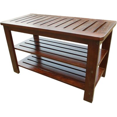 D-Art Collection Wood Storage Entryway Bench
