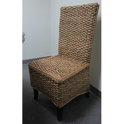 Seagrass Solid Wood Dining Chair