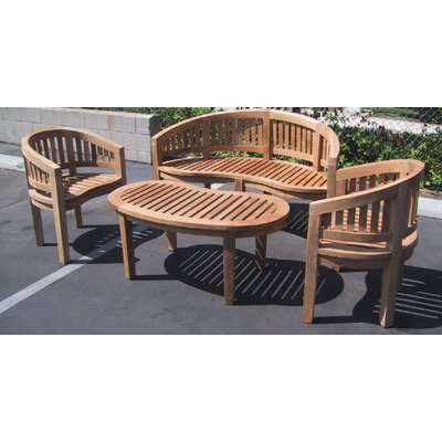 Teak Island 4 Piece Conversation Set