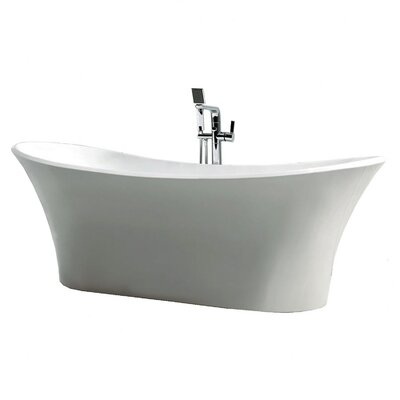 Dolly 70.875 x 31.5 Freestanding Soaking Bathtub