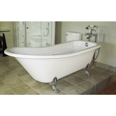 Picadilly 59 x 28.75 Soaking Bathtub with Faucet