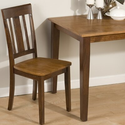 Triple Upright Solid Wood Dining Chair
