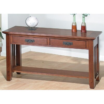 Cheap Jofran Viejo Sofa Table in Brown Mission Oak (JFI1009)