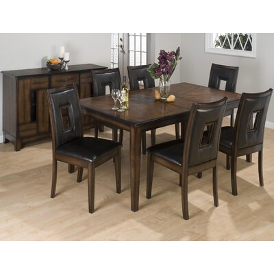 Cheap Jofran 7 Piece Rectangular Dining Set in Warm Brown (JFI1801)