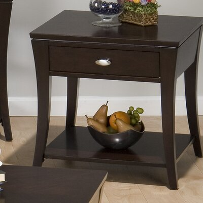 Cheap Jofran End Table in Rich and Dark Cherry (JFI1639)