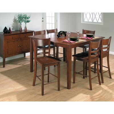 Broyhill Bryson 5 Piece Counter Height Dining Set In Warm Pine Stain Brh4326 Dining Table Mall