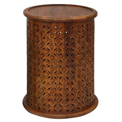 Lorraine Global Archive Drum End Table Finish: Mango