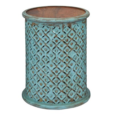 Lorraine Global Archive Drum End Table Finish: Turquoise