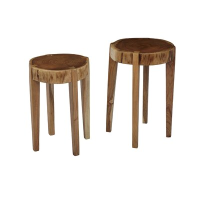 Fontanelle All Wood 2 Piece Nesting Table